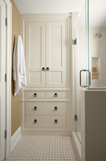 White Floor To Ceiling Cabinets And Shiplap Create A Clic Coastal Feel In This Mudroom The Tall Can Also Be Designed As Individual Lockers With